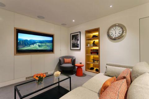 客厅白色背景墙现代风格装饰效果图