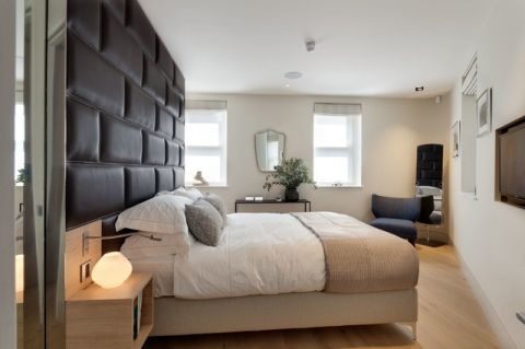 卧室白色榻榻米现代风格装修图片