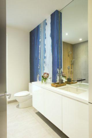 卫生间白色细节现代风格装饰设计图片