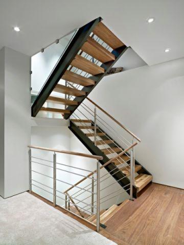 客厅咖啡色楼梯现代风格装修效果图