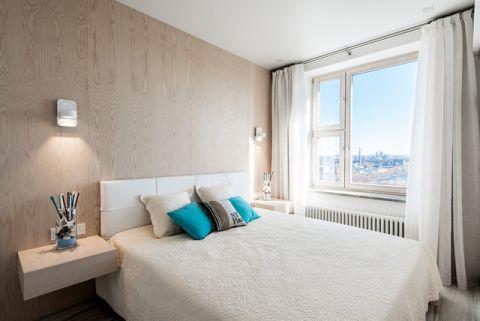 卧室白色床现代风格装饰效果图