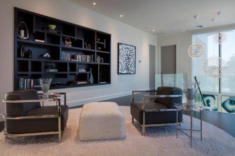 客厅黑色背景墙现代风格效果图