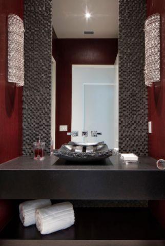 卫生间黑色细节现代风格装修效果图