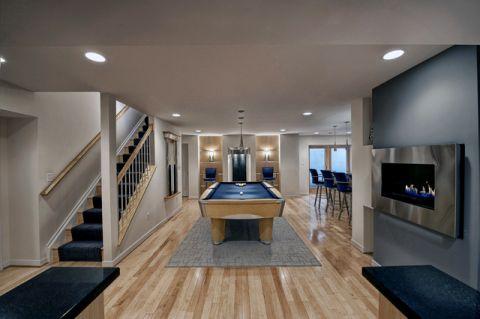 温暖现代风格地下室装修效果图