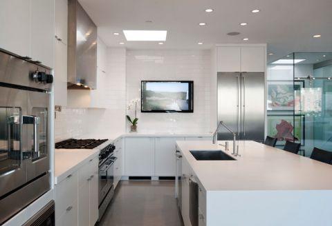 唯美现代风格厨房装修效果图_土拨鼠2017装修图片大全