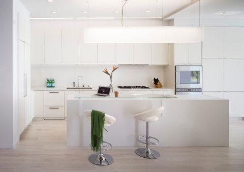 厨房白色吧台现代风格效果图
