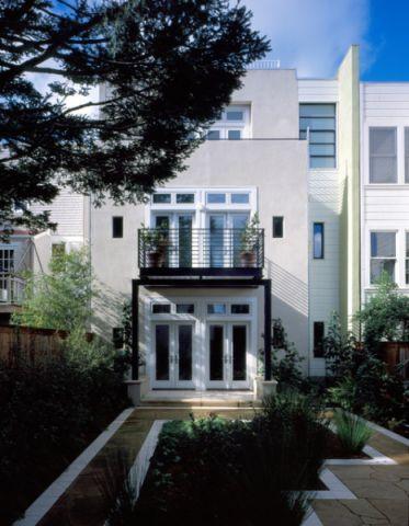 外景白色外墙现代风格装饰效果图