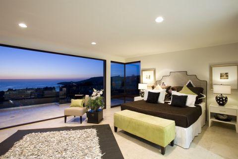 卧室黑色床现代风格装饰设计图片