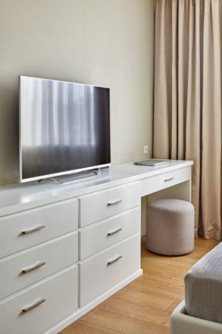 卧室白色电视柜现代风格装修图片