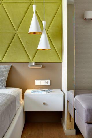卧室白色灯具现代风格装潢图片