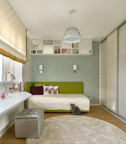 儿童房白色床现代风格装修效果图