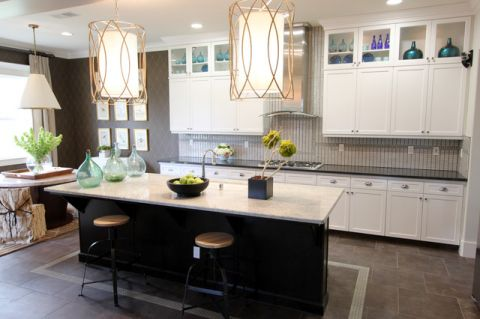 厨房白色现代风格装饰设计图片