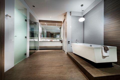 卫生间白色浴缸现代风格装修效果图