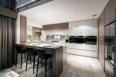 厨房灰色吧台现代风格装饰图片