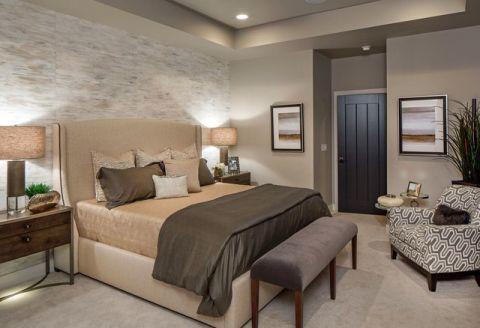 卧室灰色细节现代风格装修设计图片