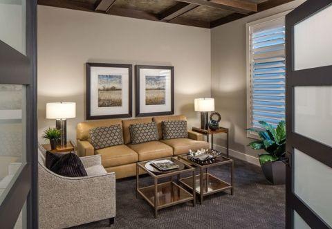 客厅米色细节现代风格效果图
