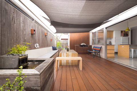 阳台咖啡色细节现代风格装潢设计图片