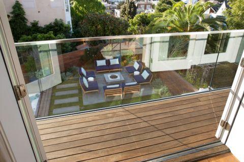 阳台咖啡色细节现代风格装修图片