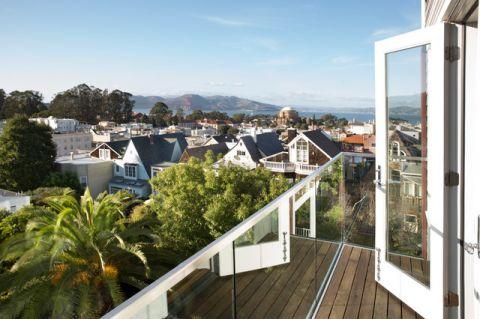 阳台咖啡色细节现代风格装饰图片