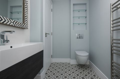 卫生间灰色细节现代风格效果图