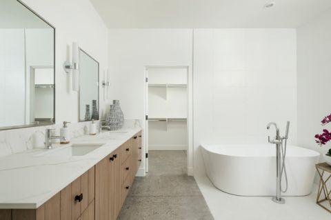 大气沉稳现代风格浴室装修效果图_土拨鼠2017装修图片大全