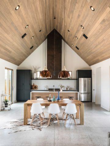 餐厅咖啡色吊顶现代风格装饰图片
