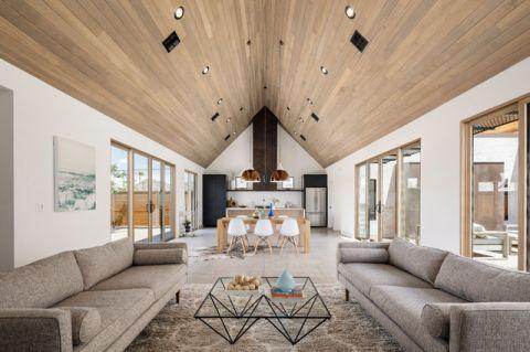 客厅咖啡色吊顶现代风格效果图