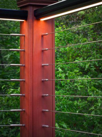 阳台红色细节现代风格装潢效果图