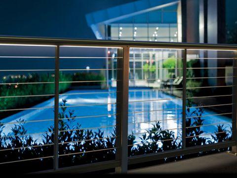 阳台蓝色细节现代风格装修图片
