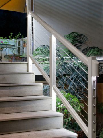 阳台灰色细节现代风格装饰图片