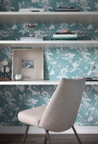 书房白色照片墙现代风格装修效果图