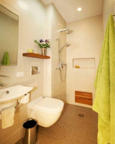 优雅时尚现代风格浴室装修效果图