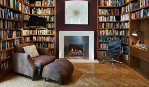 书房书架现代风格装修图片