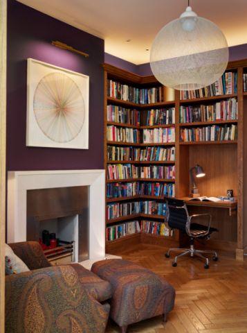 书房书架现代风格装潢图片