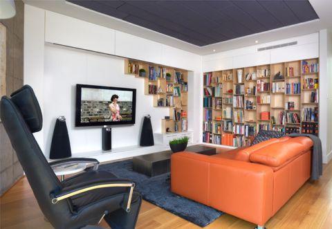 客厅书架现代风格装修设计图片
