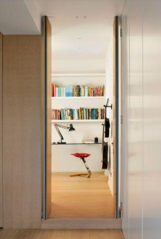 书房推拉门现代风格装潢设计图片