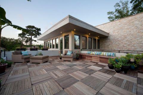 休闲质感现代风格阳台装修效果图