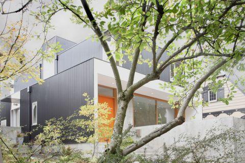 外景灰色外墙现代风格效果图