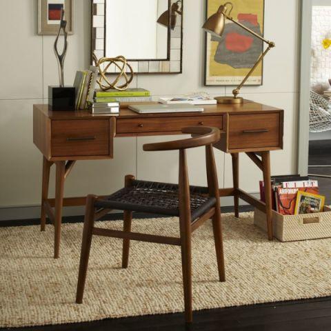 书房书桌现代风格装修效果图
