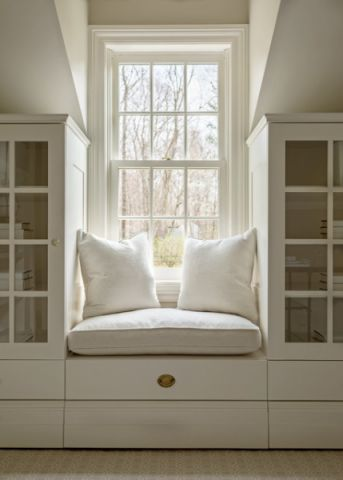 书房飘窗美式风格装潢效果图