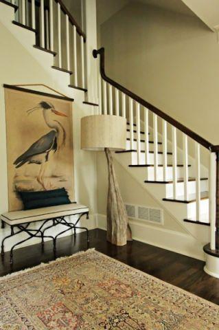 楼梯美式风格效果图