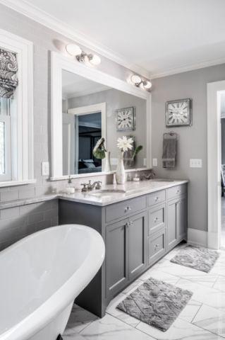 卫生间浴缸美式风格装潢图片