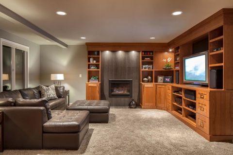 客厅门厅美式风格装饰图片