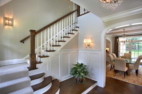 楼梯美式风格装修图片