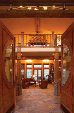 玄关吊顶美式风格装修设计图片