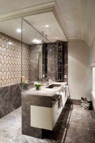 大气沉稳美式风格浴室装修效果图_土拨鼠2017装修图片大全