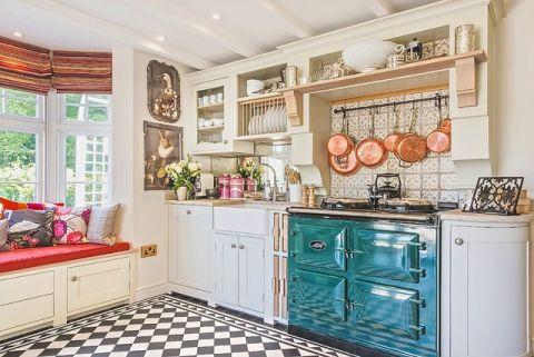 厨房飘窗美式风格装潢图片