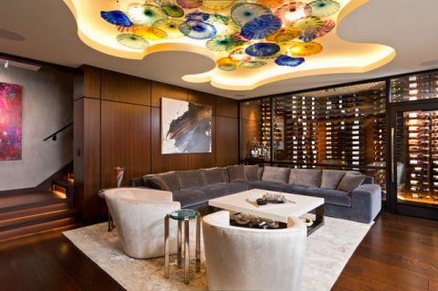 特立独行美式风格客厅装修效果图_土拨鼠2017装修图片大全