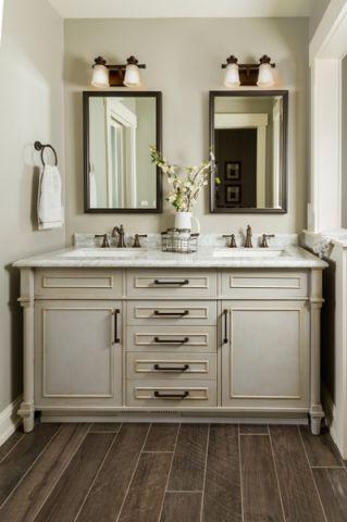 卫生间橱柜美式风格装饰设计图片