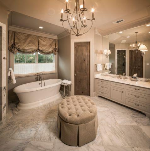 卫生间窗帘美式风格装修效果图